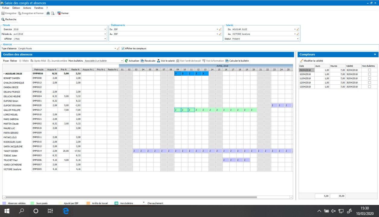 Logiciel de Paie | EBP Solution Autonome conçue pour TPE-PME